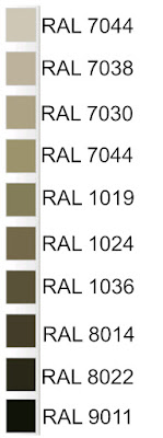 Elenco codici ral per identificare le diverse tonalità di colore tortora