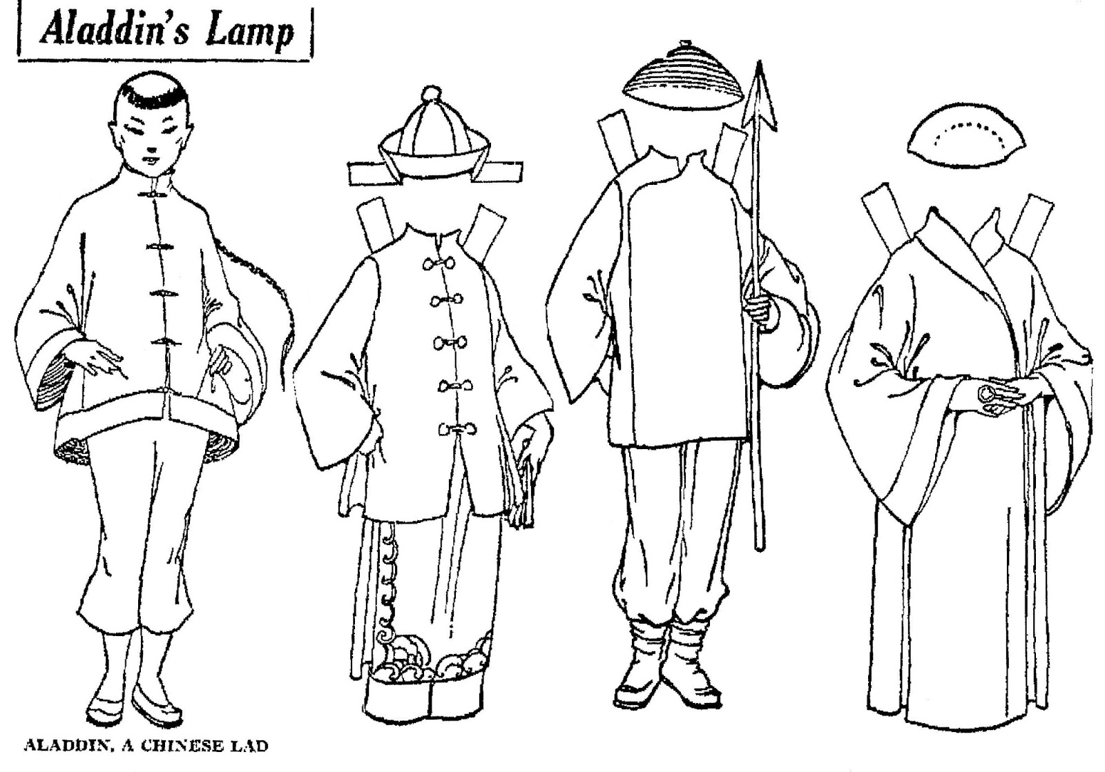 Mostly Paper Dolls Too!: Aladdin's Lamp Paper Doll Cut