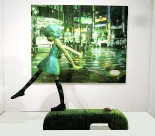 Lukisan yang menakjubkan dengan menggabungkan  Seni Lukisan Manipulasi 3D Karya Shitaro Ohata