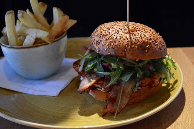Harissa Chicken Burger at Giraffe