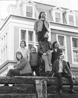 Quincy Conserve in 1971 Barry Brown-Sharpe, Dave Orams, Malcolm Hayman, Dennis Mason (rear), Richard James Burgess (front),  Rufus Rehu and John McCormick