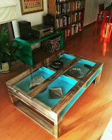 diseño de mesa con palets de madera