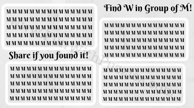 Hunt for hidden letter W