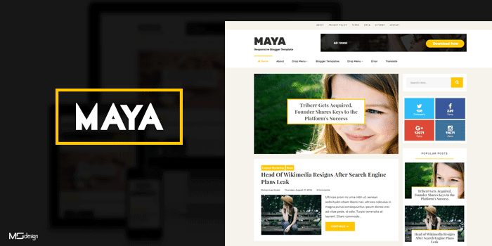 maya professional responsive blog style blogger template