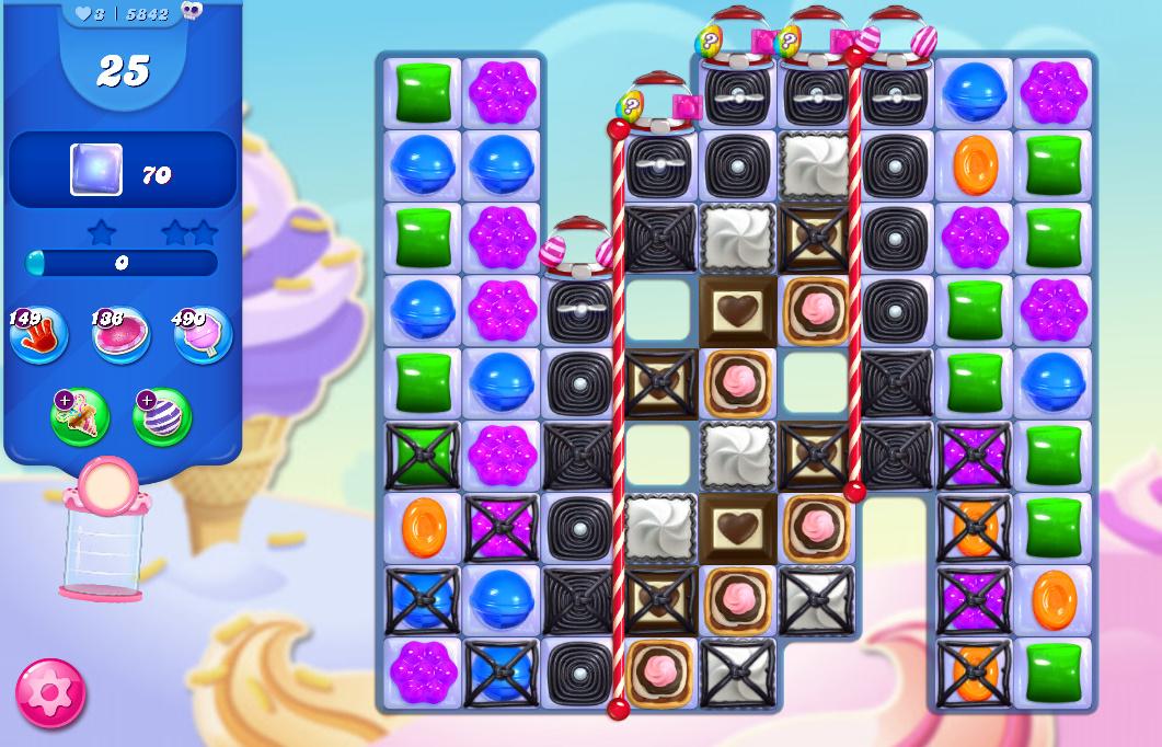 Candy Crush Saga level 5842