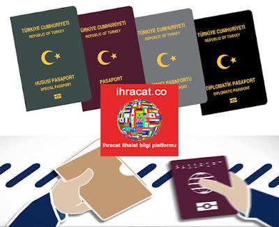 ihracat hususi pasaport