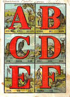 alphabet antique image children book abc letters