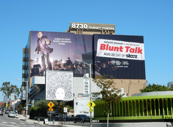 Giant Blunt Talk season 1 Starz billboard
