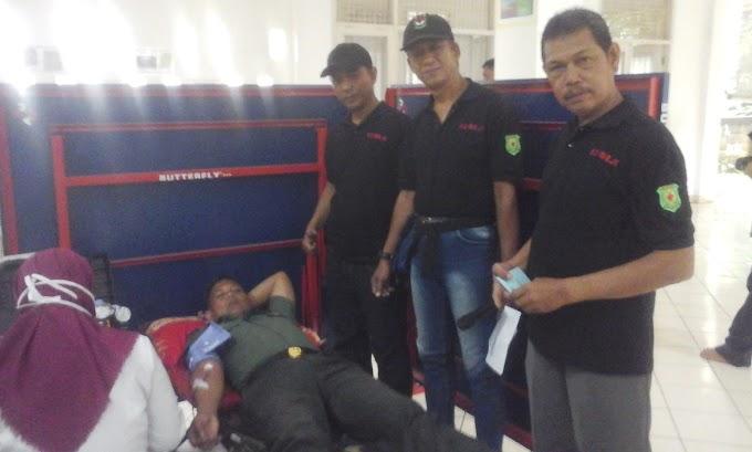 Mitra Koramil 02/Beji Jangkrik Gelar Donor Darah