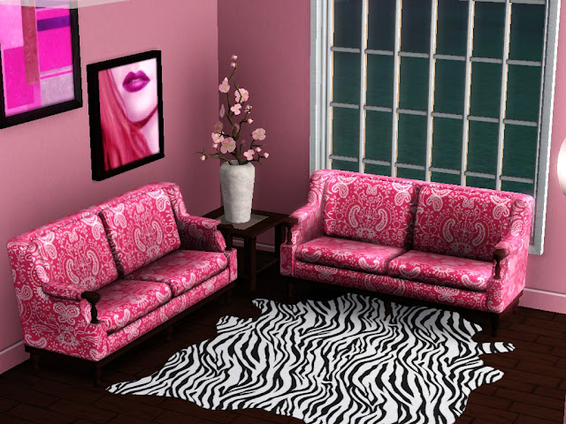 Romantic feminine living room with colorful accents design idea