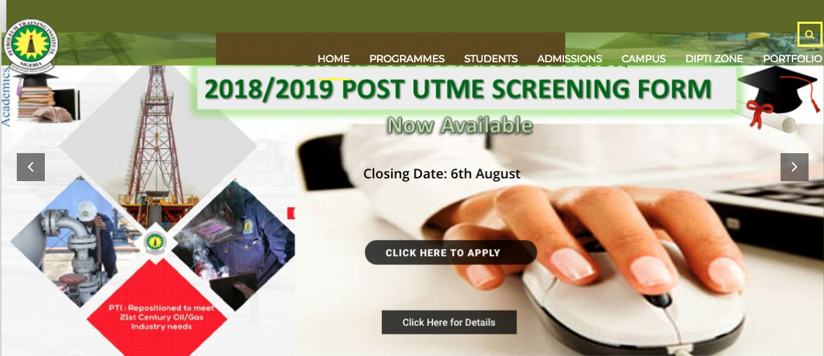 PTI Effurun Post UTME Registration Deadline 2018