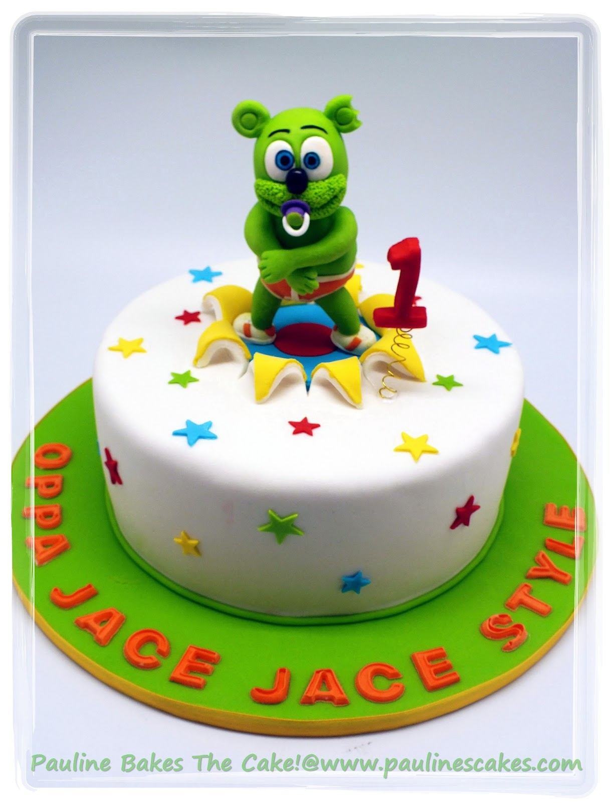 Gummy Bear Gangnam Style Cake
