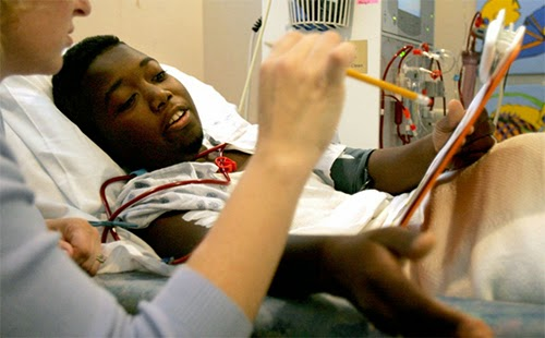 Young Black Dialysis Patient