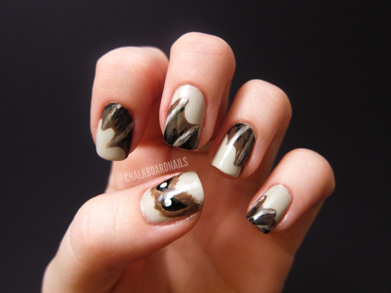 Bat Nails! | Chalkboard Nails | Nail Art Blog