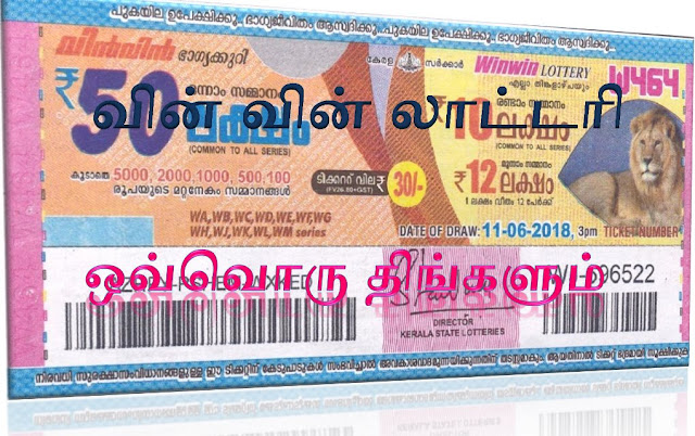 Win Win lottery on all Mondays Kerala lottery result Win Win கேரள லாட்டரி வின் வின் ஒவ்வொரு திங்கக்கிழமைகளிலும்