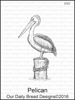 Our Daily Bread Designs Stamp: Pelican
