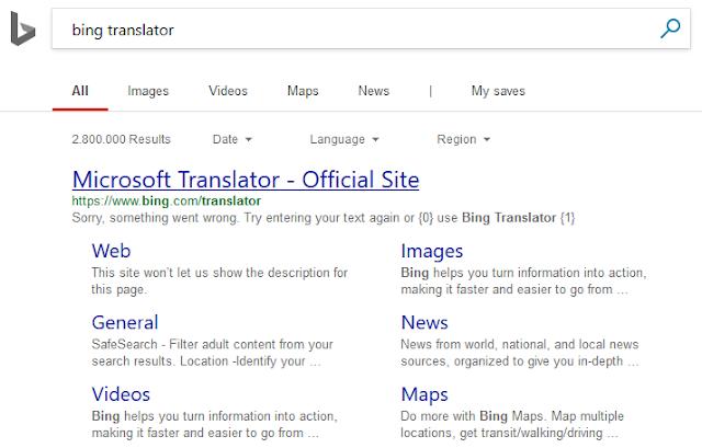 Cara Translate Bahasa Inggris Di Bing Translator Tanpa Ribet