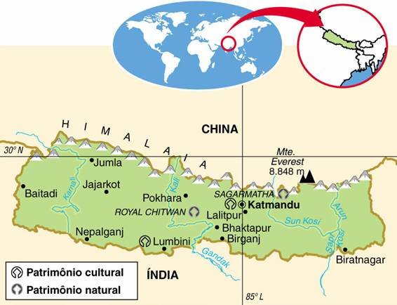 NEPAL, ASPECTOS GEOGRÁFICOS E SOCIOECONÔMICOS DO NEPAL