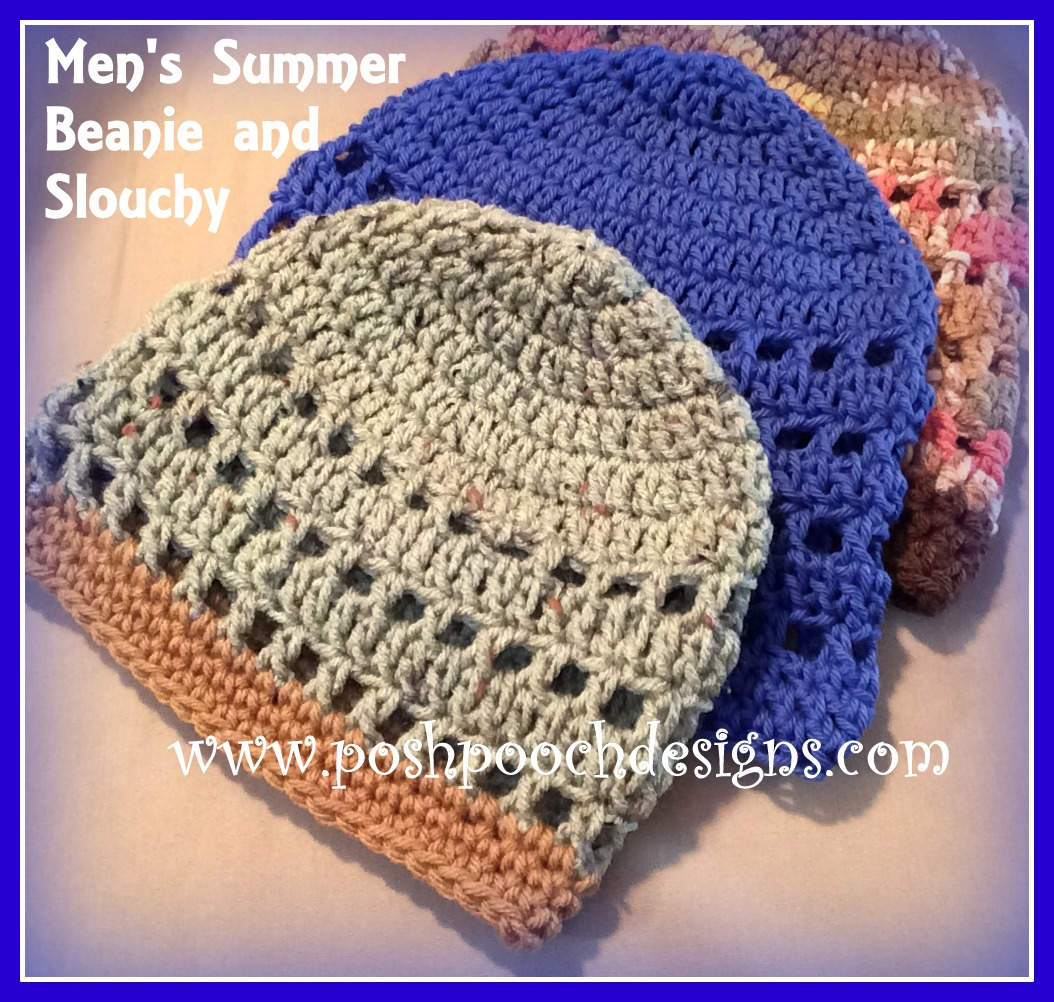 Posh Pooch Designs Dog Clothes Mens Summer Beanie Crochet Pattern