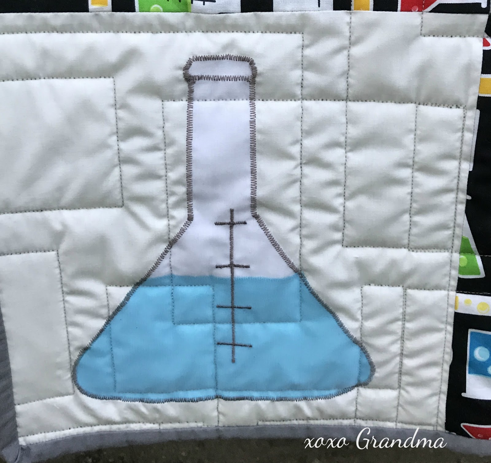 Xoxo grandma science lovers quilt periodic table of elements elements quilted with a random line quilting pattern this is the first time ive professionally paid to have anything quilted and it was so worth it urtaz Image collections