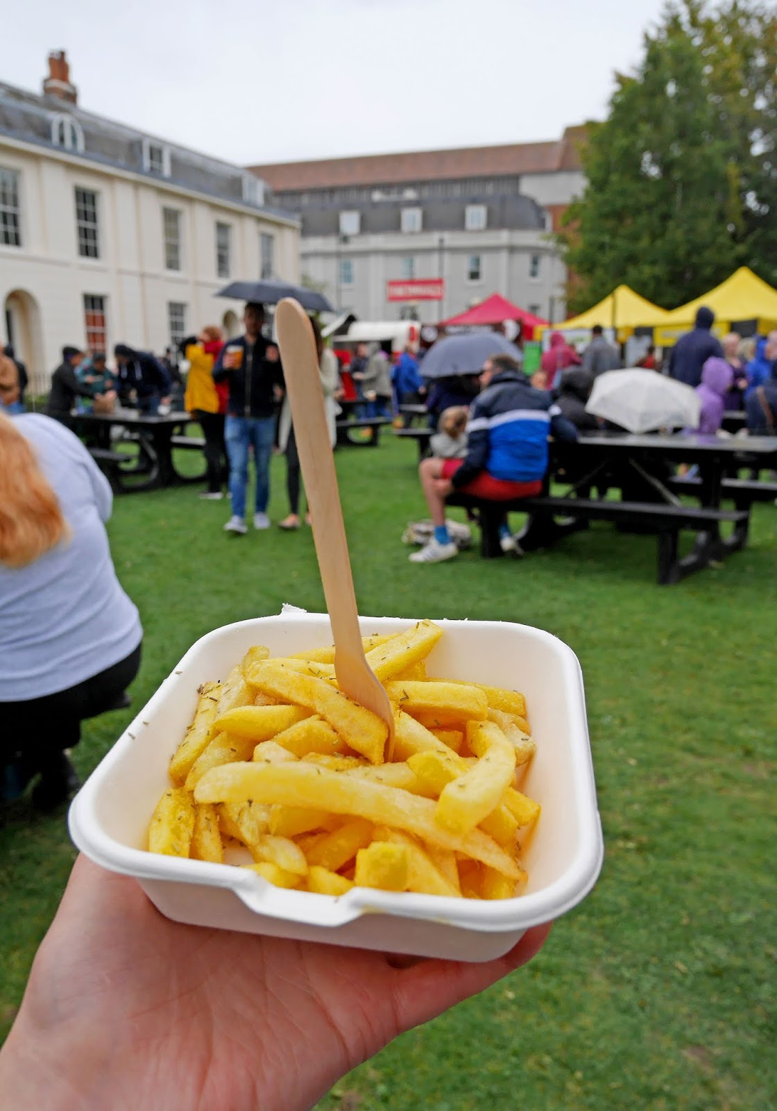 Rosemary fries for lunch at the Canterbury Food Festival