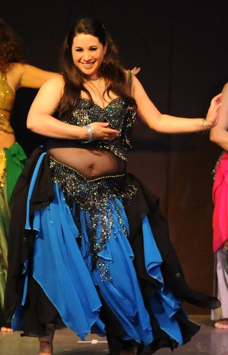 Chubby belly dancer
