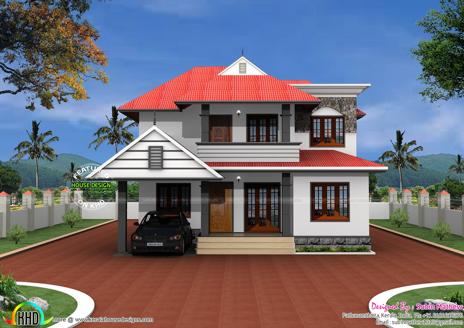 Typical kerala home in 2500 sq ft kerala home design and for Typical house design