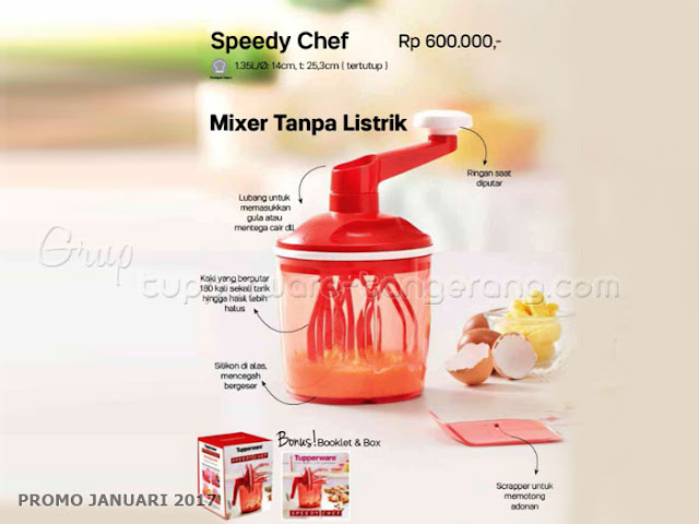 Speedy Chef Promo Tupperware Januari 2017
