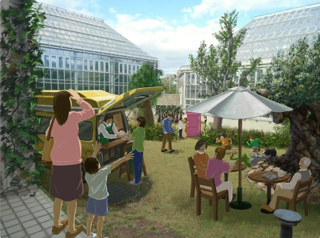 予想CG:中庭はカフェ ときわ公園、植物園もリニューアル。 プラントハンター西畠清順が手がける?