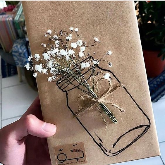 Envoltorios para tus regalos con elementos naturales