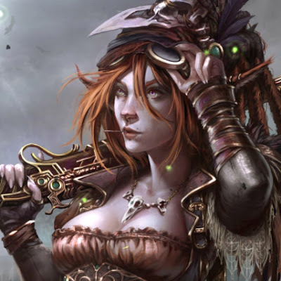 Steampunk Woman Wallpaper Engine