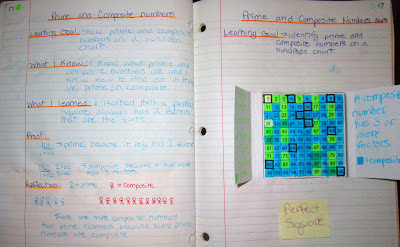 prime composite numbers interactive math journal entry