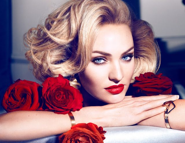 Candice Swanepoel goes glamorous for Max Factor