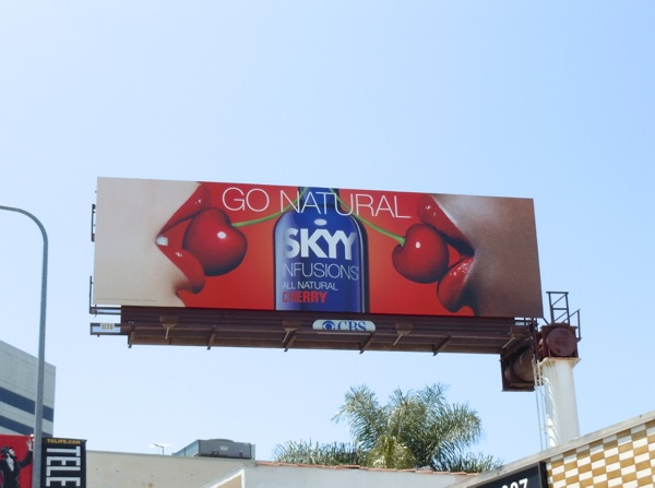 Skyy Cherry Vodka Go Natural billboard