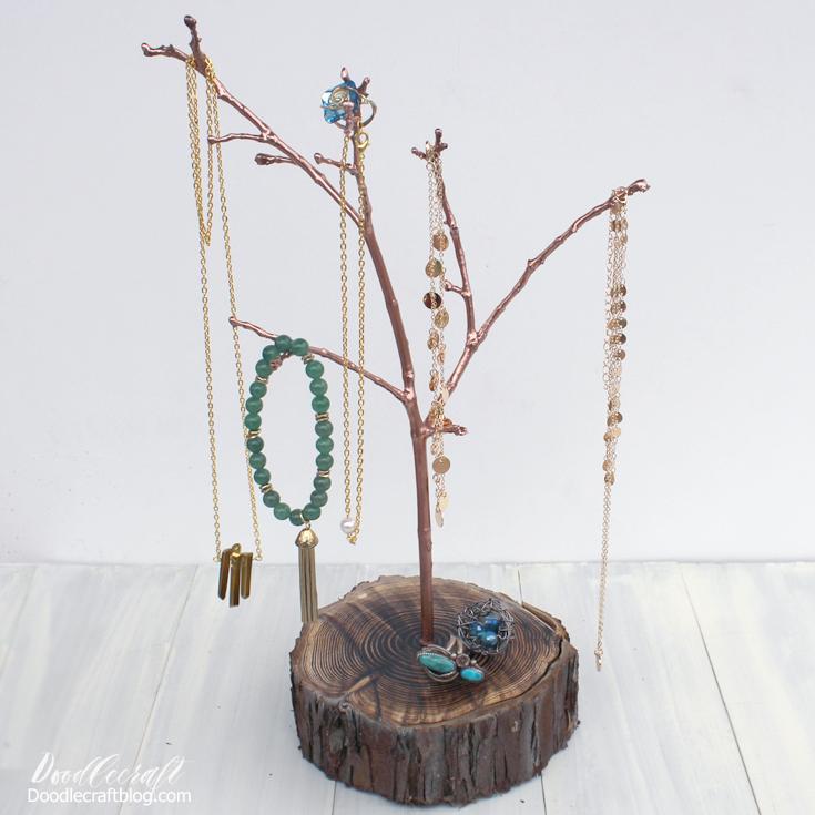 Resin Tree Branch Jewelry Organizer Diy