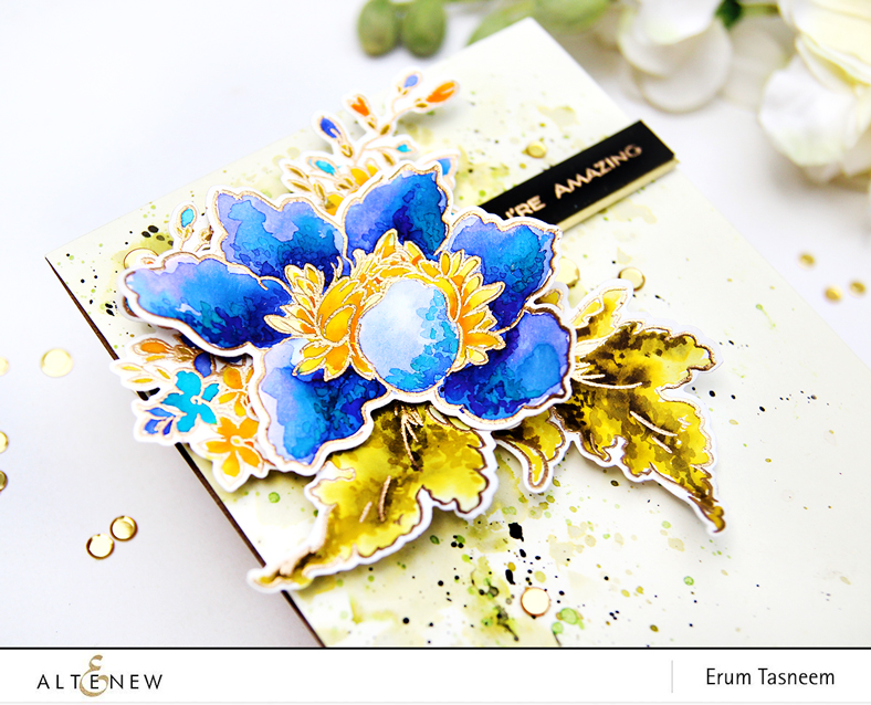 Altenew Crown Bloom Stamp Set | Erum Tasneem | @pr0digy0