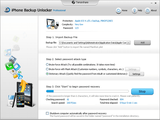 decrypt locked iTunes backup
