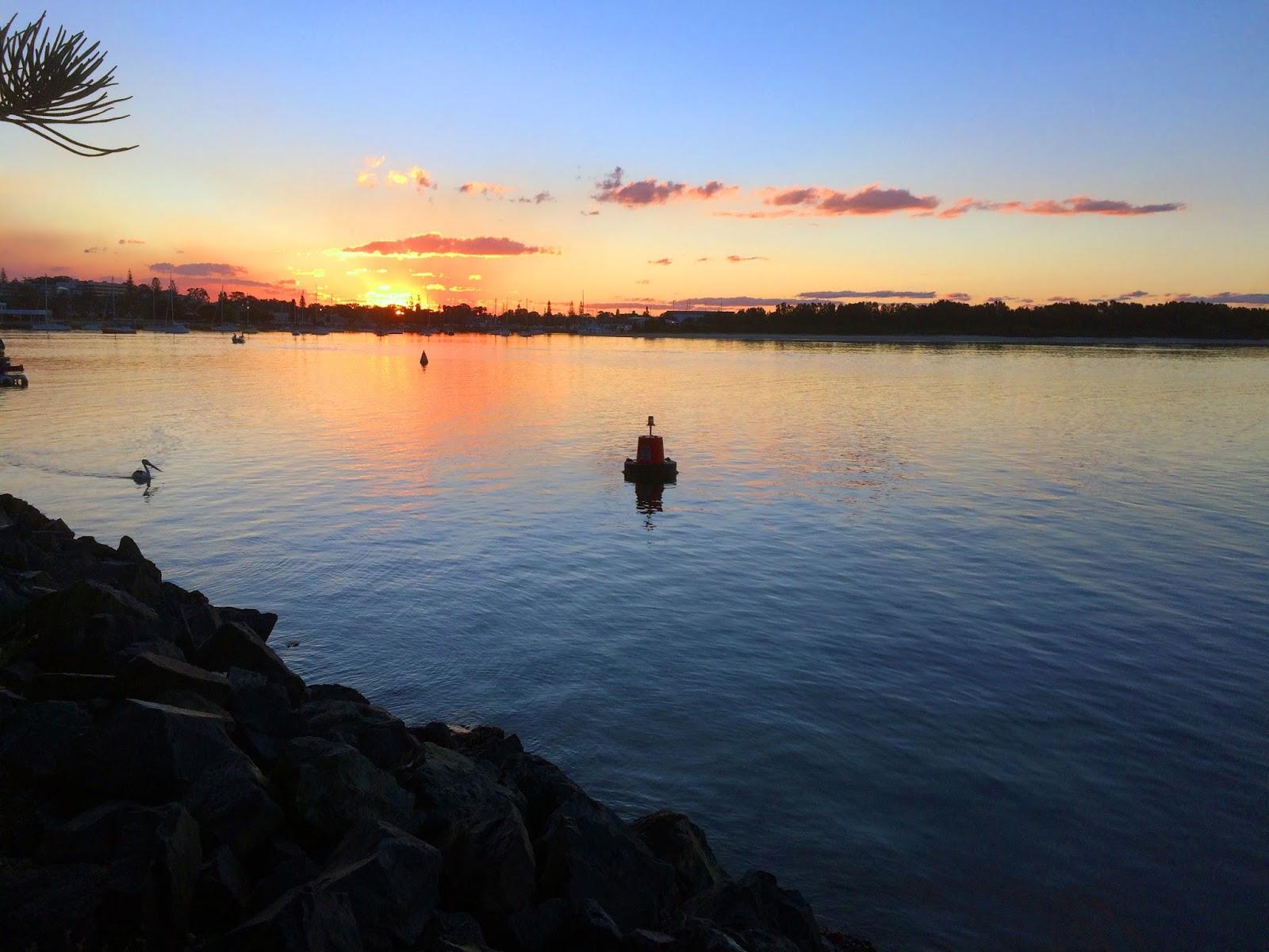 Sunset over river Port Macquarie