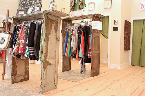 Creative clothing racks made from doors or shutters - Dishfunctional Designs: New Takes On Old Doors: Salvaged Doors