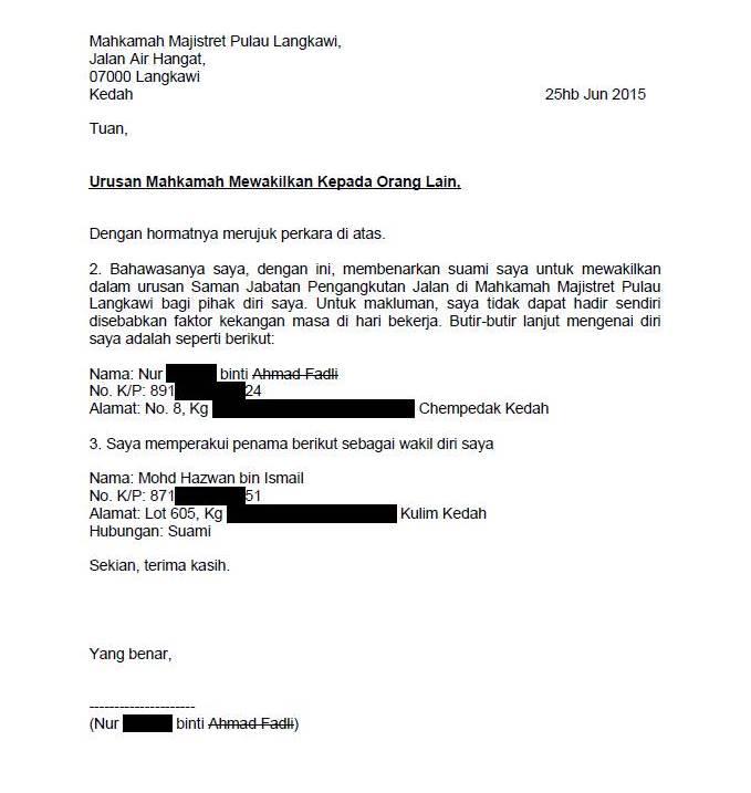 surat tidak hadir ke sekolah dalam bahasa inggriscontoh