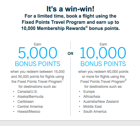 Earn Up To 10 000 Bonus Amex Membership Rewards Points For Fixed Travel Program Bookings