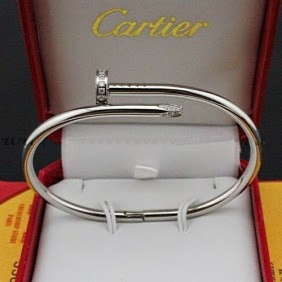 Faux Cartier Juste Un Clou Diamonds Bracelet B6037915 White Gold 1 Jpg