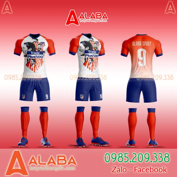 Áo CLB Atletico may theo yêu cầu mã ALB AT11 đẹp