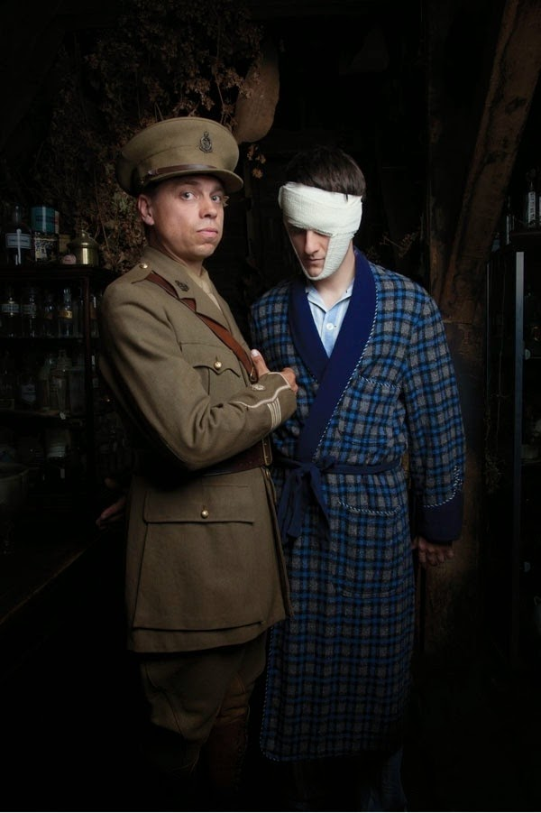 James Garnon as Harold Gillies and Will Featherstone as Jack Twigg in Dr Scroggy's War - Globe Theatre - photo Mark Douet