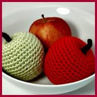 Manzanas amigurumi
