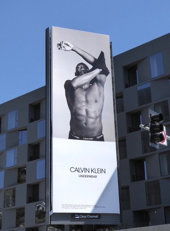 Calvin Klein Underwear Mahershala Ali Moonlight billboard