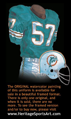 Miami Dolphins 1966 uniform