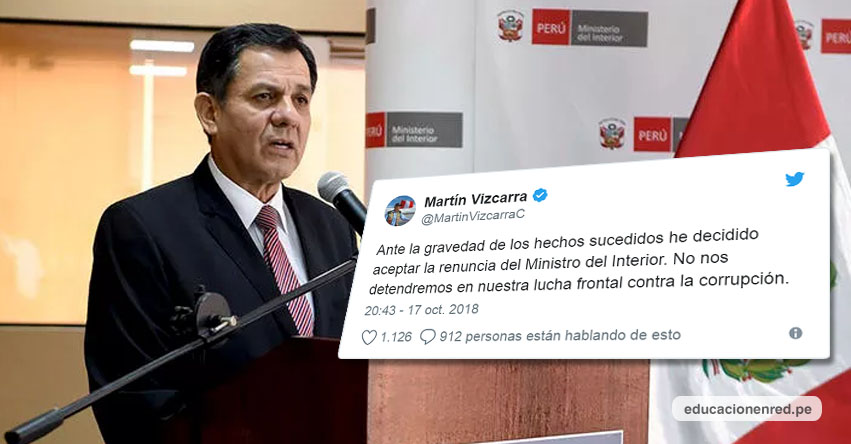 Aceptan renuncia del Ministro del Interior, Mauro Medina Guimaraes - MININTER - www.mininter.gob.pe