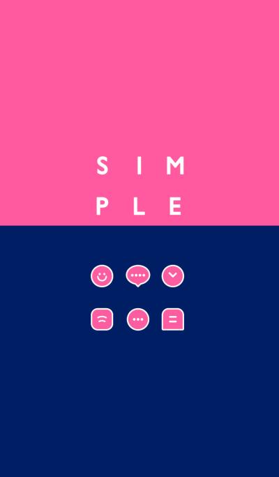 SIMPLE / navy-pink.