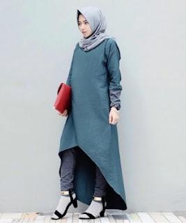 Contoh Padu Padan Celana Jogger Dengan Hijab Style Casual Terbaru